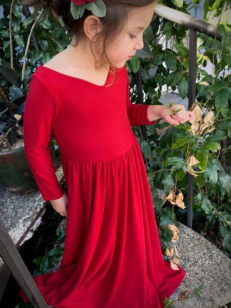 Sweetheart Red Maxi Dress
