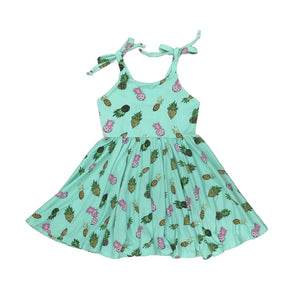 Mint Pineapples Dress