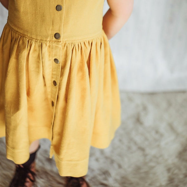 Marigold Linen Dress
