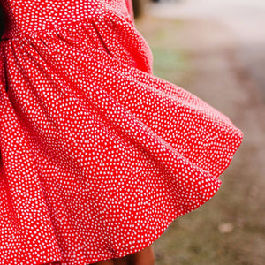 Womens Red Dottie Dress