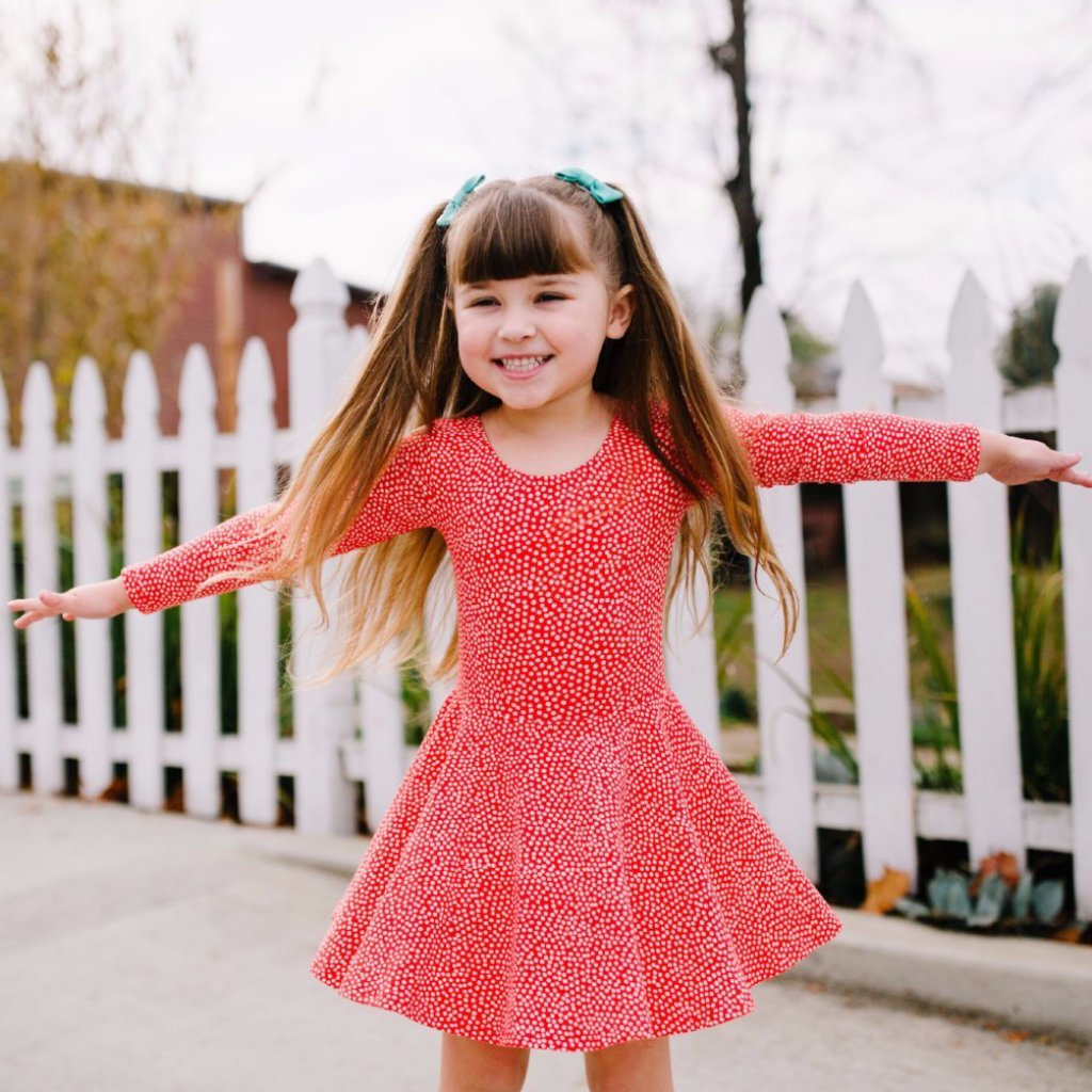 Red Dottie Skirted Leotard