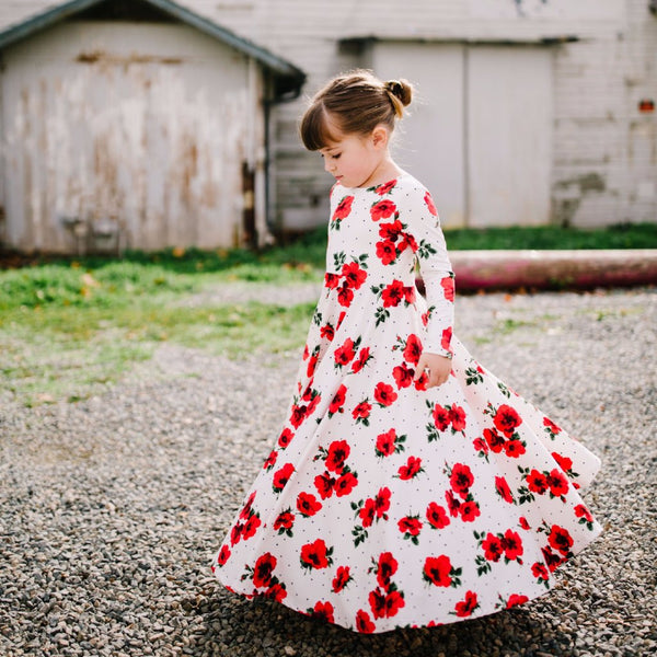 Red Roses Bespoke Dress