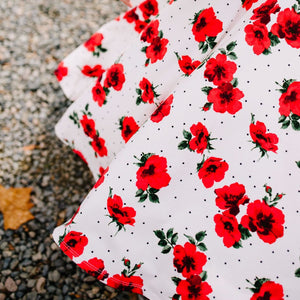 Womens Red Roses Dress