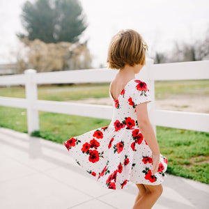 Red Roses Skirted Leotard