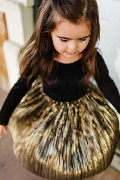 Golden Metallic Holiday Dress