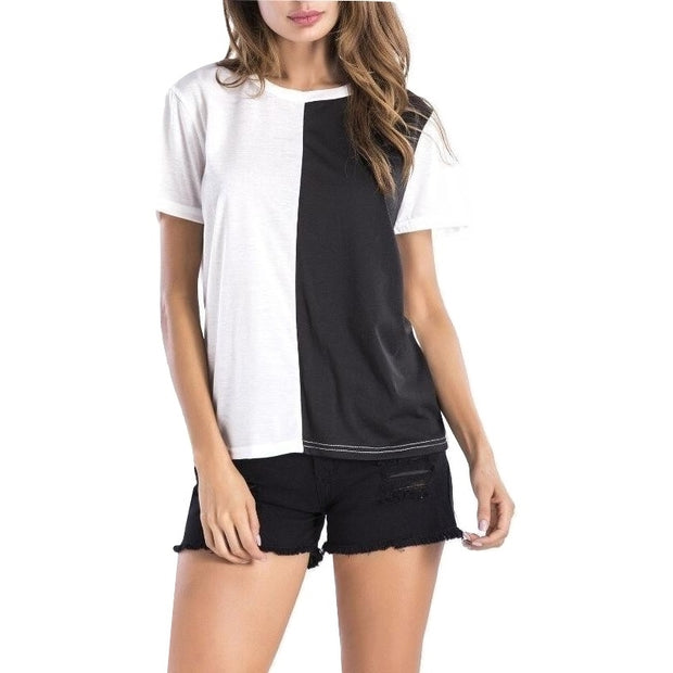 Camiseta Feminina Black White