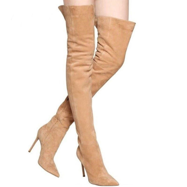 Bota Over The Knee Bico Fino