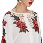 Blusa Bordado Embroidery Floral