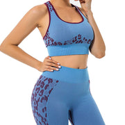 Conjunto Fitness Legging e Top Leopardo