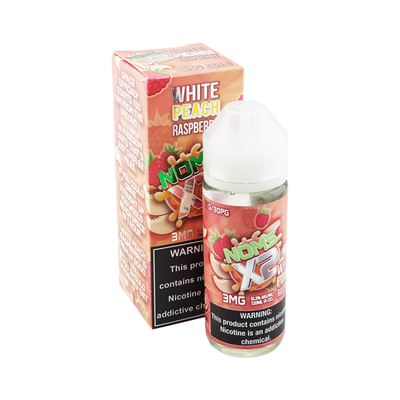 NOMS X2 WHITE PEACH RASPBERRY - 120ML - E-Juice Deals www.ejuicedeals.com