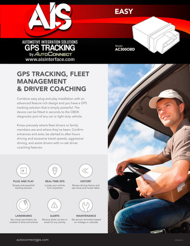 OBD II GPS TRACKING PART# AC320OBD