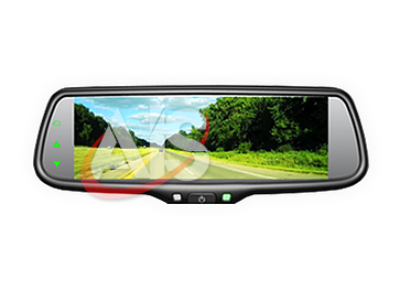 "UNIVERSAL FIT 7.3"" SUPER WIDE HD LCD MIRROR W/3 VIDEO INPUTS PART#UM73"