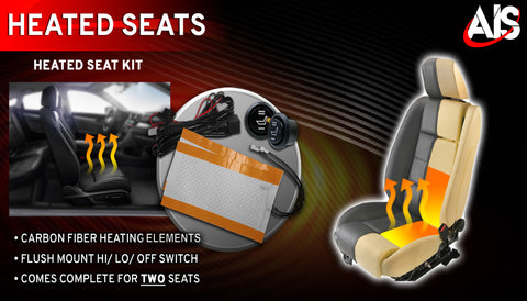 CARBON FIBER HEATING ELEMENTS FOR 2 SEATS PART#SH2K
