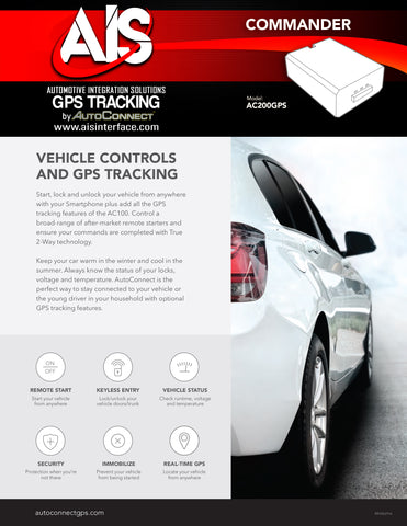GPS TRACKING W/SMARTPHONE TRUE 2-WAY TECHNOLOGY PART# AC200GPS