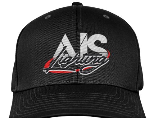 AISLFHBK AIS LIGHTS LOGO FLEX FIT HAT