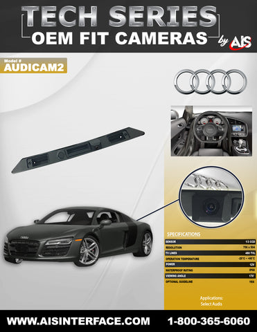 OE FIT TRUNK LID CAMERA FOR SELECT AUDI MODELS PART#AUDICAM2