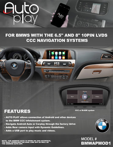 BMW CCC AUTOPLAY PART#BMWAPMOD1