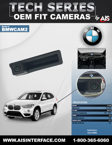 OE FIT TRUNK LID CAMERA FOR SELECT BMWs PART#BMWCAM2