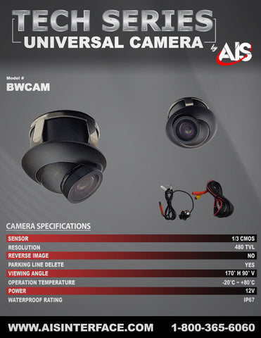 TECH SERIES CAMERA PART#BWCAM