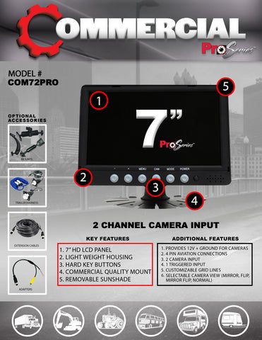 2 CAMERA INPUT PART#COM72PRO
