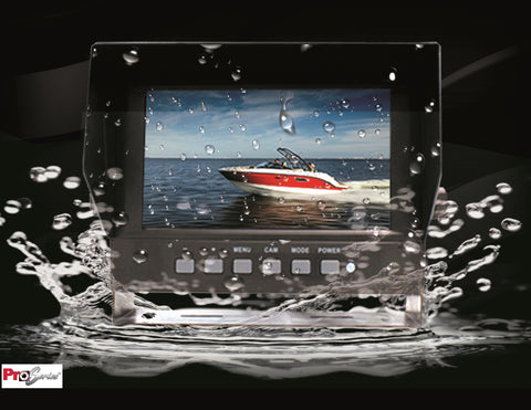 "PRO-SERIES 7"" WATERPROOF MONITOR W/ 2 VIDEO INPUTS PART# COM72WP"