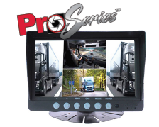 "PRO-SERIES 7"" COMMERCIAL MONITOR W/ 4 VIDEO INPUTS AND QUAD VIEW PART# COM74QVPRO"