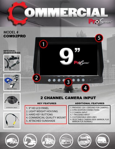 2 CAMERA INPUT PART#COM92PRO