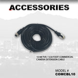 10 METER / 32.8 FOOT COMMERCIAL CAMERA EXTENSION CABLE PART#COMCBL10