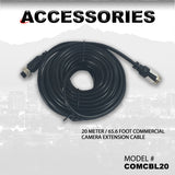 20 METER / 65.6 FOOT COMMERCIAL CAMERA EXTENSION CABLE PART#COMCBL20