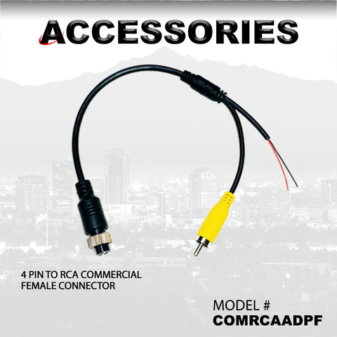4 PIN TO RCA COMMERCIAL FEMALE CONNECTOR PART# COMRCAADPF