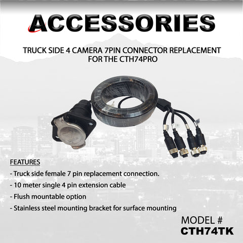 4 CAMERA TRUCK SIDE CONNECTOR PART#CTH74TK