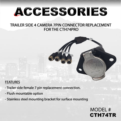 4 CAMERA TRAILER SIDE CONNECTOR PART#CTH74TR