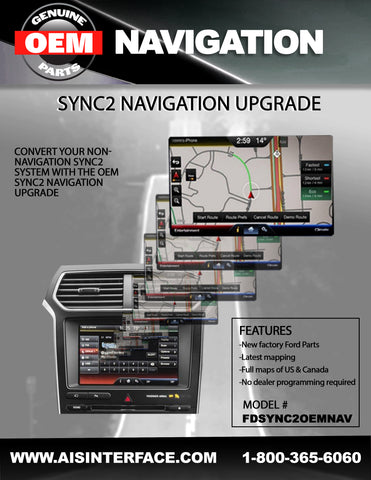FORD NAVIGATION PART#FDSYNC2OEMNAV