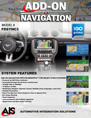 NAVIGATION PART#FDSYNC3
