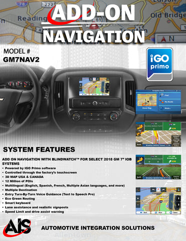 NAVIGATION PART#GM7NAV2