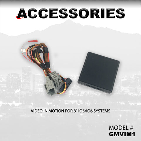 "VIDEO IN MOTION FOR 8"" IO5/IO6 SYSTEMS PART#GMVIM1"
