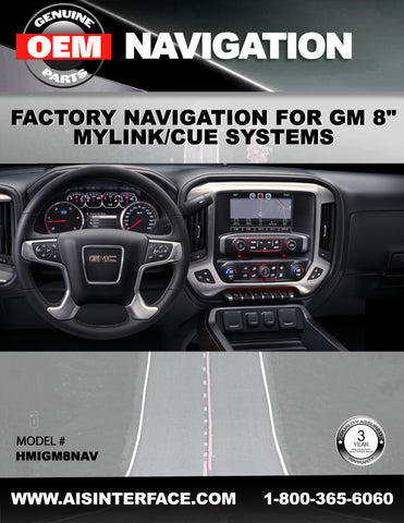 GM FACTORY NAVIGATION PART#HMIGM8NAV
