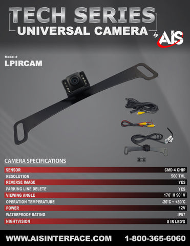 TECH SERIES CAMERA PART#LPIRCAM