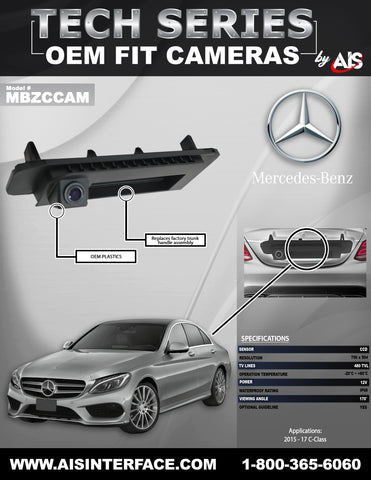 OE FIT TRUNK LID CAMERA FOR C-CLASS PART#MBZCCAM