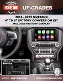 "MUSTANG 4"" T0 8"" SYNC3 WITH CARPLAY/ANDROID AUTO PART#MUST428SY3CP"