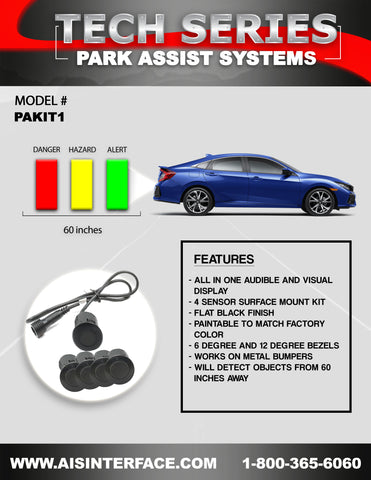PARK ASSIST REAR SYSTEM PART#PAKIT1