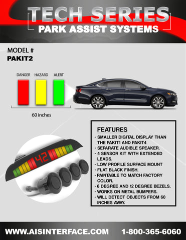 PARK ASSIST REAR SYSTEM PART#PAKIT2