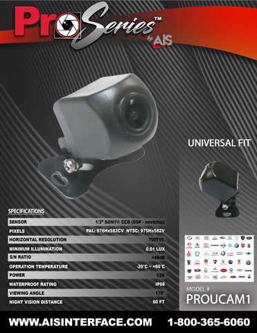 SONY HD CCD CAMERA PART#PROUCAM1