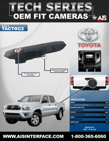 OE FIT HANDLE CAMERA W/LOCK FOR SELECT TACOMA PT# TACTGC2