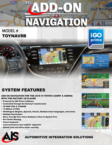 NAVIGATION PART#TOYNAV8B
