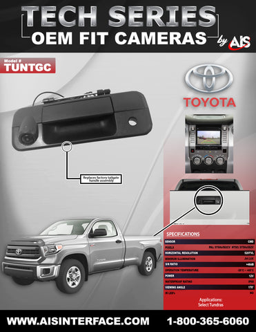 OE FIT TAILGATE HANDLE CAMERA FOR SELECT TUNDRA PT#TUNTGC