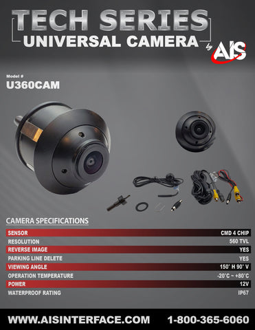 TECH SERIES CAMERA PART#U360CAM