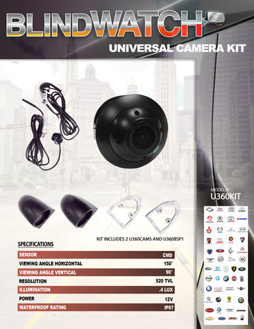 BLINDWATCH CAMERA KIT PART#U360KIT