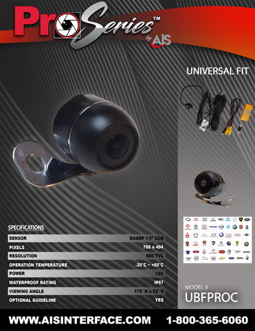 PRO SERIES CAMERA PART#UBFPROC