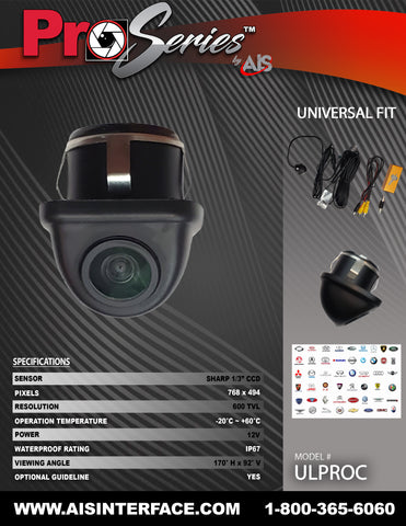 PRO SERIES CAMERA PART#ULPROC